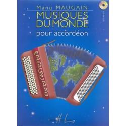 MANU MAUGAIN MUSIQUES DU MONDE POUR ACCORDEON HL28133