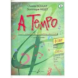 A Tempo volume 3 Ecrit - GB7480 le kiosque à musique Avignon