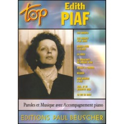 PARTITION EDITH PIAF TOP BEUSCHER CLAVIER PIANO