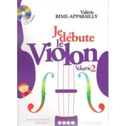 BIME-APPARAILLY JE DEBUTE LE VIOLON VOL2