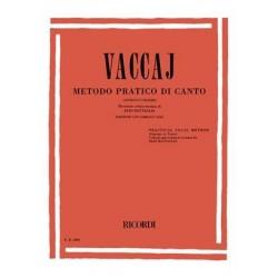 VACCAI METODO PRATICO SOPRANO TENOR - KIOSQUE MUSIQUE AVIGNON