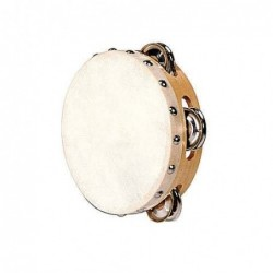 TAMBOURIN 15 cm + 8 CYMBALETTES