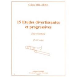 15 études divertissantes et progressives de Millière C06571 le kiosque à musique Avignon