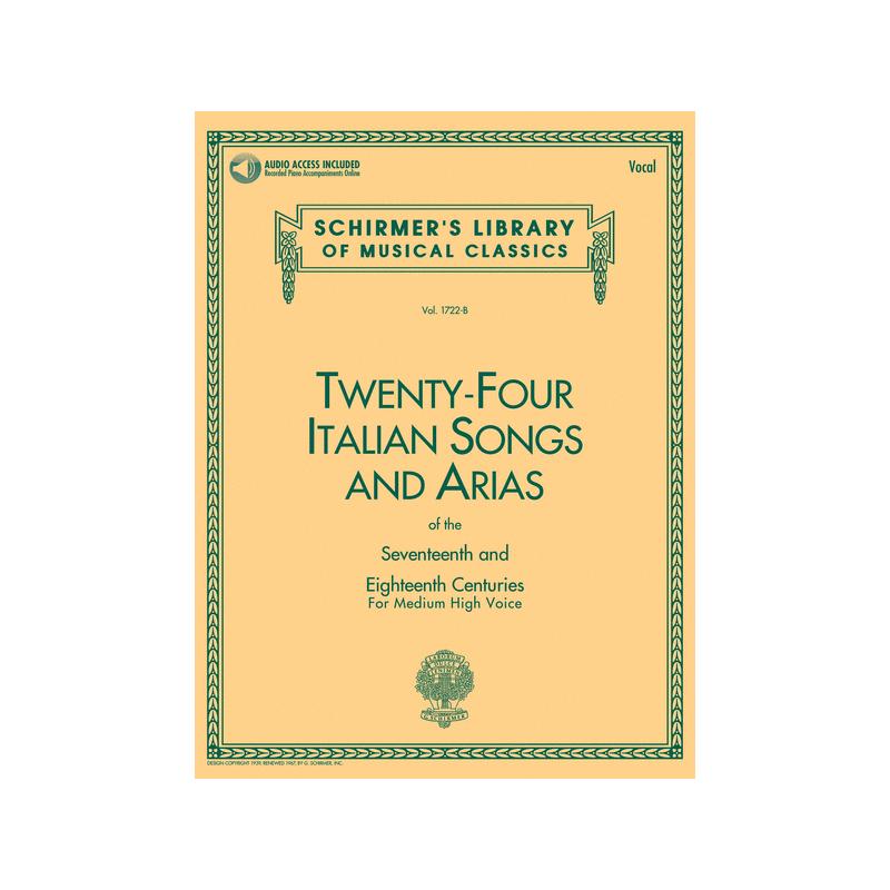 24 ITALIAN SONGS MEDIUM HIGH HL50481592 AVIGNON