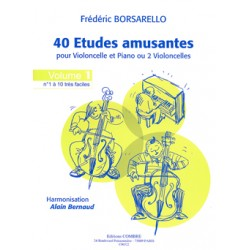 BORSARELLO 40 ETUDES AMUSANTES VOLUME 1 POUR VIOLONCELLE