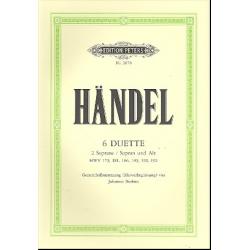 HAENDEL 6 DUOS POUR SOPRANOS PETERS EP2070