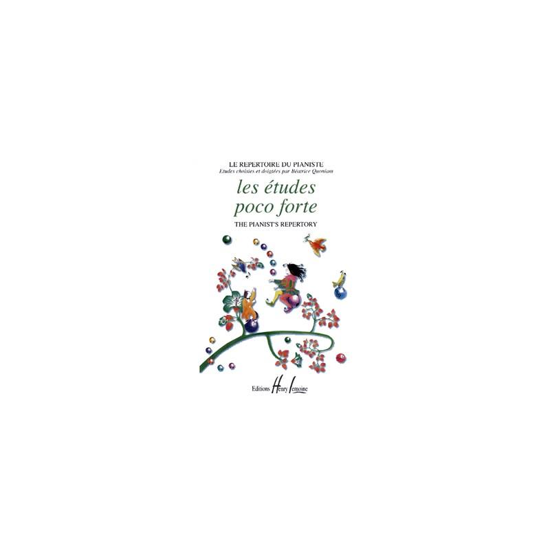 Partition Les études Poco Forte - Béatrice Quoniam - Le kiosque à musique