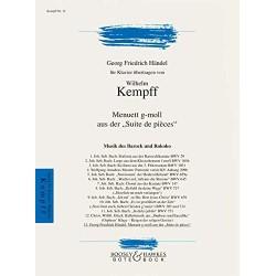 BACH KEMPFF MENUET EN SOL MINEUR POUR PIANO SOLO