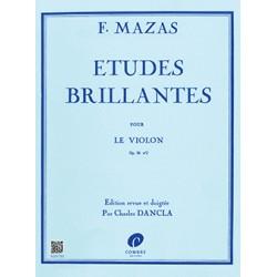 MAZAS ETUDES BRILLANTES VIOLON COMBRE