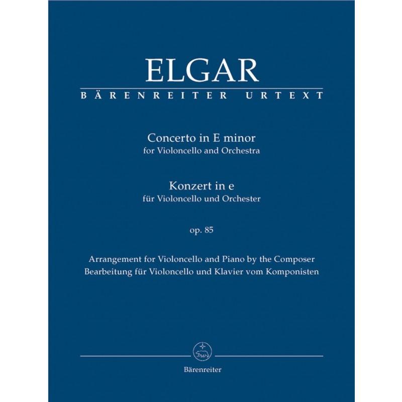 PARTITION ELGAR CONCERTO POUR VIOLONCELLE EDITIONS BARENREITER BA9040