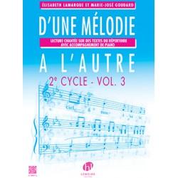 Lamarque D'une mélodie à l'autre volume 3