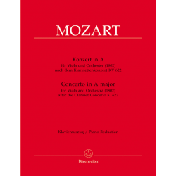 MOZART CONCERTO POUR CLARINETTE TRANSCRIT POUR L'ALTO BA5336-90