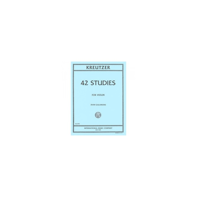 KREUTZER GALAMIAN 42 ETUDES VIOLON EDITION INTERNATIONAL MUSIC COMPANY