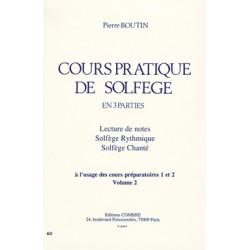 BOUTIN COURS PRATIQUE DE SOLFEGE VOLUME 2