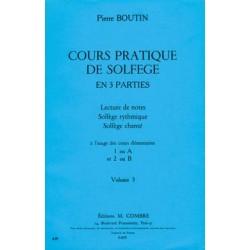 BOUTIN COURS PRATIQUE DE SOLFEGE VOLUME 3