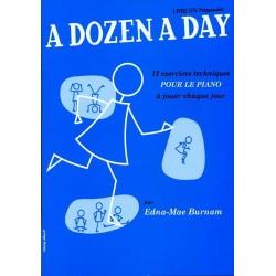 PARTITION PIANO A DOZEN A DAY VOLUME 1 BLEU LE KIOSQUE A MUSIQUE
