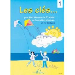 Les Clés volume 1 - Cahier de vacances de la musique - Le kiosque à musique Avignon