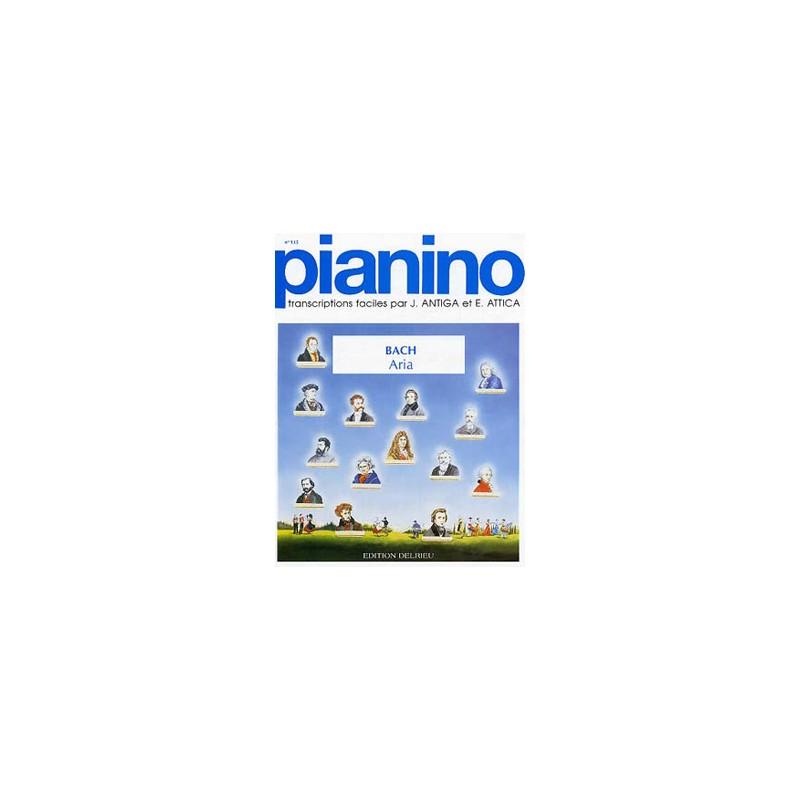 BACH ARIA POUR PIANO FACILE PIANINO 135