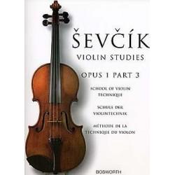 Partition violon SEVCIK Opus 1 part 3 - Le kiosque à musique Avignon