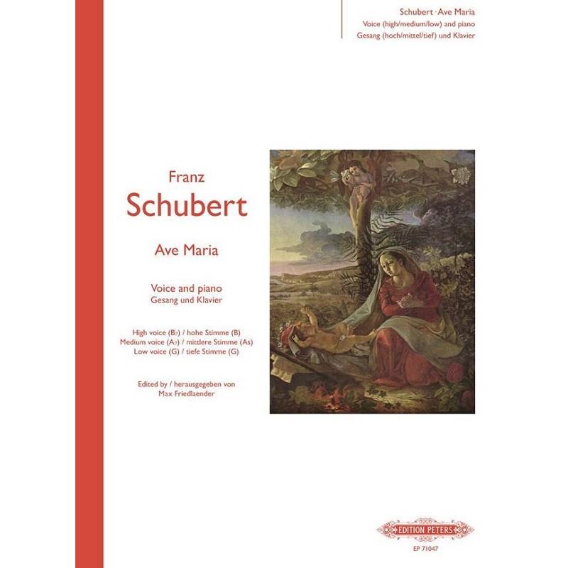 SCHUBERT AVE MARIA CHANT ET PIANO PETERS