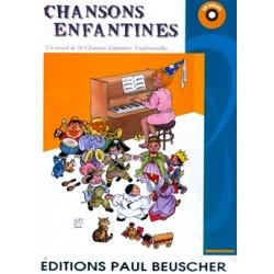 CHANSONS ENFANTINES FRANCAISES POUR PIANO AVEC CD