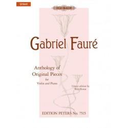 GABRIEL FAURE ANTHOLOGY OF ORIGINAL PIECES VIOLON ET PIANO PETERS EDITION EP7515