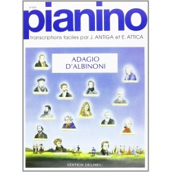 ALBINONI ADAGIO POUR PIANO FACILE PIANINO 133