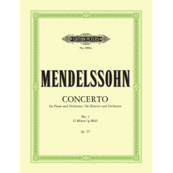 MENDELSSOHN CONCERTO POUR PIANO N°1 PETERS EP2896A