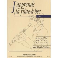 J'APPRENDS LA FLUTE A BEC ALTO JEAN-CLAUDE VEILHAN EDITIONS LEDUC
