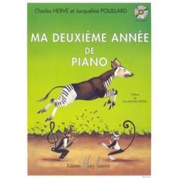PARTITION MA DEUXIEME ANNEE DE PIANO HERVE ET POUILLARD  HL26103 AVIGNON