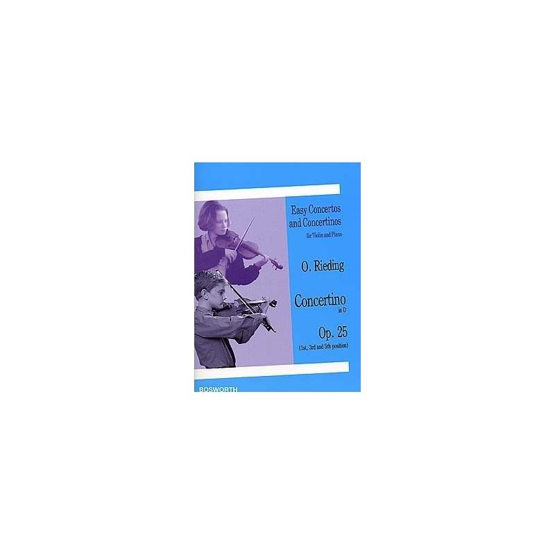 Partition violon Oskar RIEDING - Concertino Opus 25 - Kiosque musique Avignon