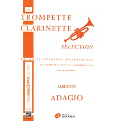 ALBINONI ADAGIO POUR TROMPETTE OU CLARINETTE ET PIANO