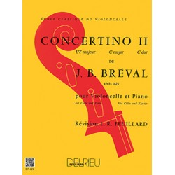BREVAL CONCERTINO VIOLONCELLE N°2 UT MAJEUR