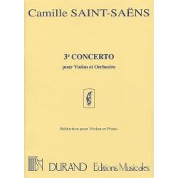 SAINT-SAENS CONCERTO N°3 POUR VIOLON EDITINS DURAND