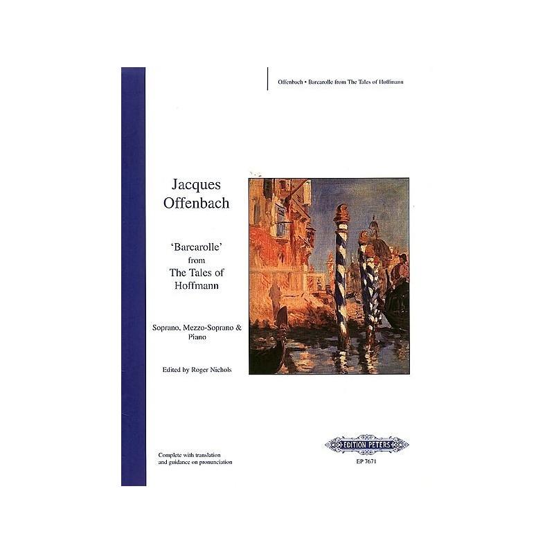 Partiton Barcarolle des Contes d'Hoffmann - Kiosque musique Avignon