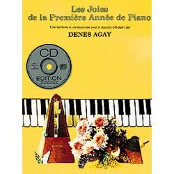 DENES AGAY LES JOIES DE LA PREMIERE ANNEE DE PIANO AVEC CD