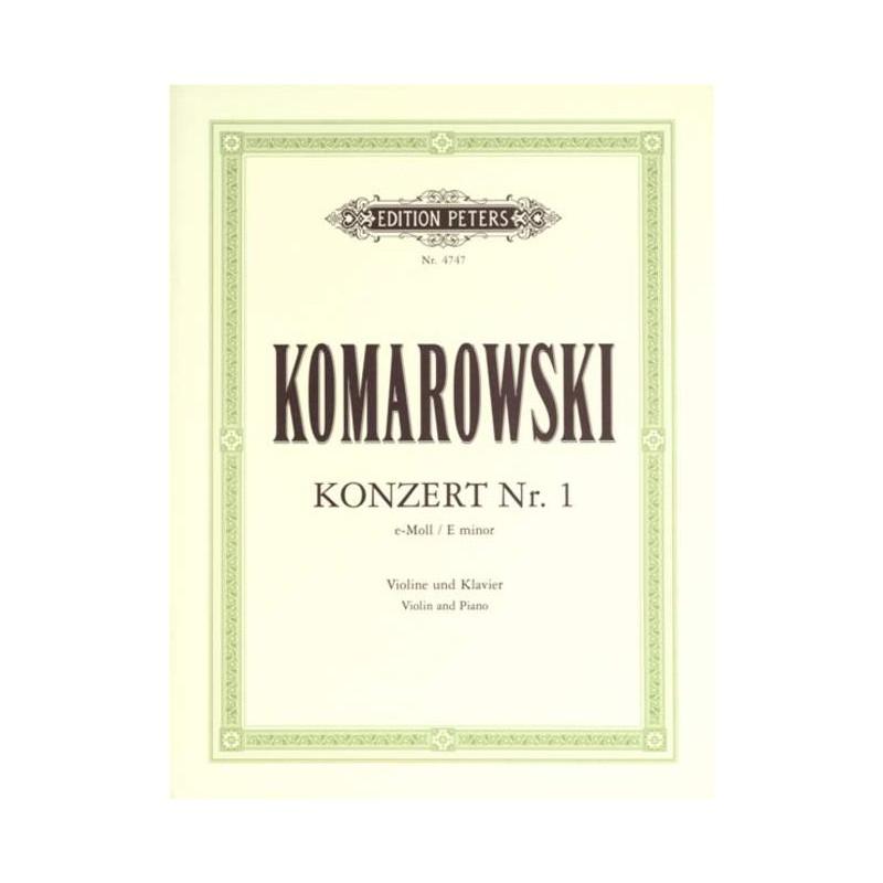 KOMAROWSKI CONCERTO N°1 MI MINEUR VIOLON EP4747 PETERS
