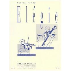 GABRIEL FAURE ELEGIE VIOLON OU VIOLONCELLE ED.HAMELLES HA9093