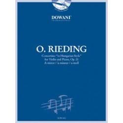 RIEDING CONCERTINO VIOLON OPUS 21 DOWANI DOW04512