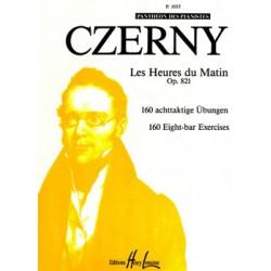 CZERNY LES HEURES DU MATIN OPUS 821 EDITIONS LEMOINE P1053 LE KIOSQUE A MUSIQUE