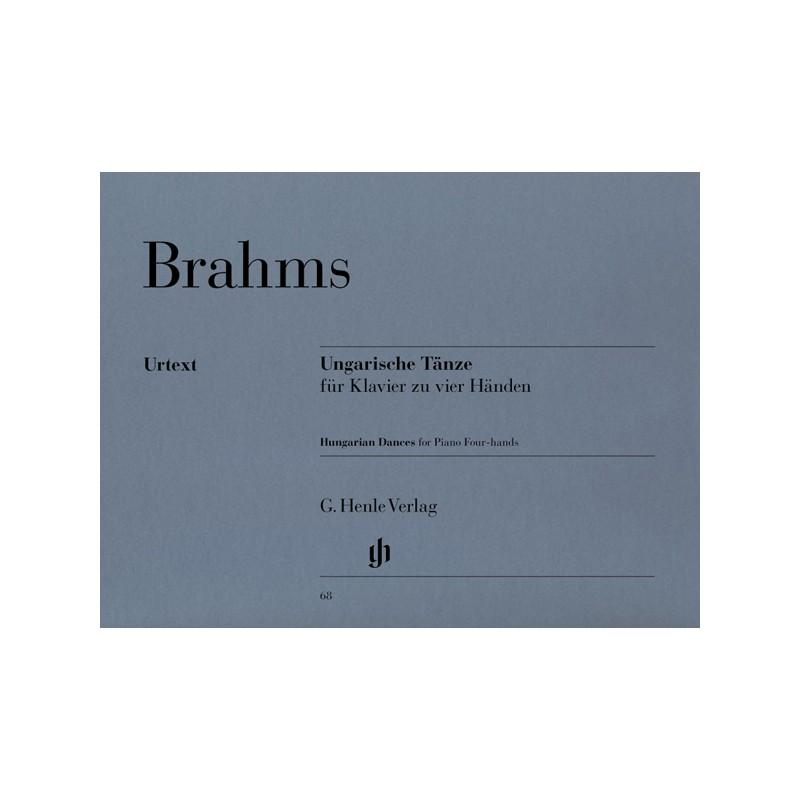 BRAHMS DANSES HONGROISES PIANO 4 MAINS HENLE HN68