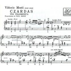 Partition accordéon Czardas de Monti - Kiosque musique Avignon