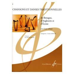 Chansons et Danses de Bretagne, d'Angleterre et d'Ecosse pour Harpe Celtique