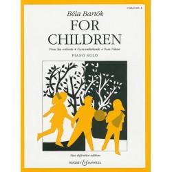 PARTITION PIANO BARTOK FOR CHILDREN BH11230 LE KIOSQUE A MUSIQUE