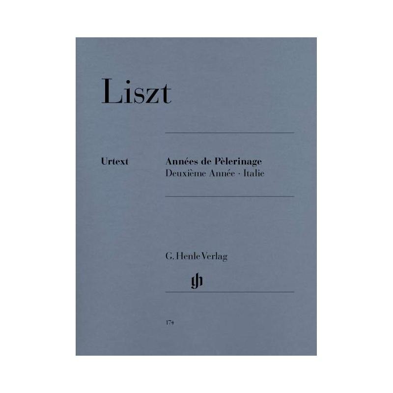 LISZT ANNEES DE PELERINAGE SUISSE PIANO HENLE URTEXT HN174