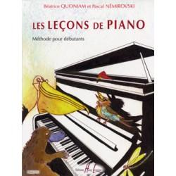PARTITION PIANO QUONIAM LES LECONS DE PIANO HL28445 LE KIOSQUE A MUSIQUE