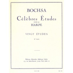 BOCHSA CELEBRES ETUDES SUITE N°1 HARPE AL21148