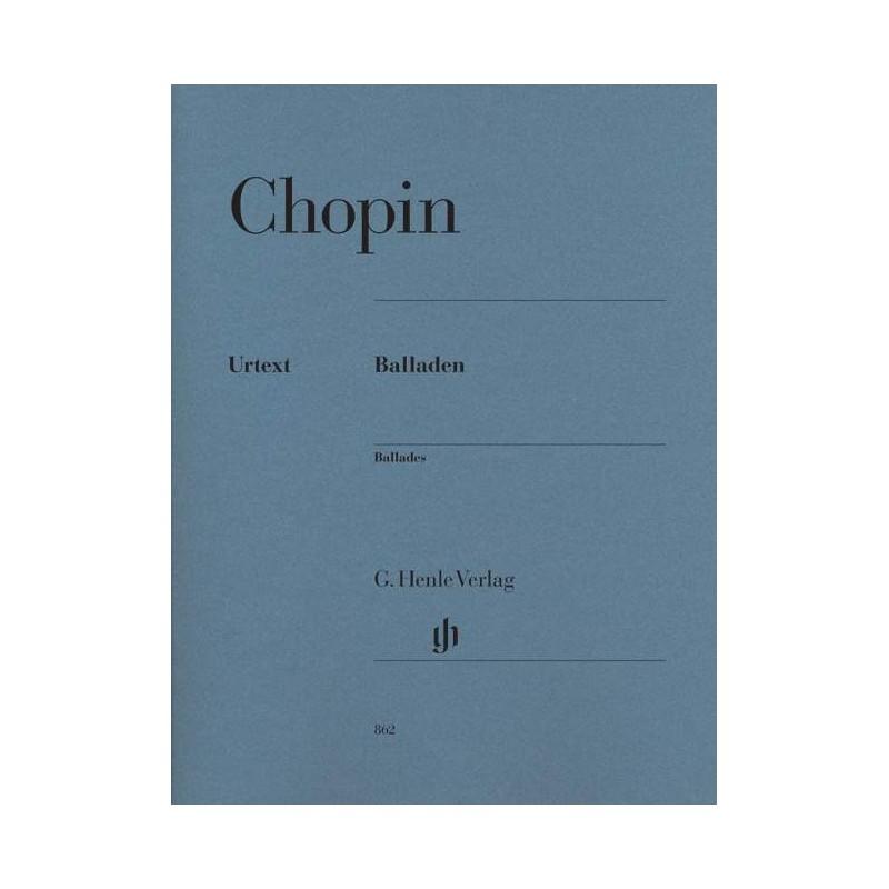 CHOPIN BALLADES PIANO HENLE VERLAG HN862