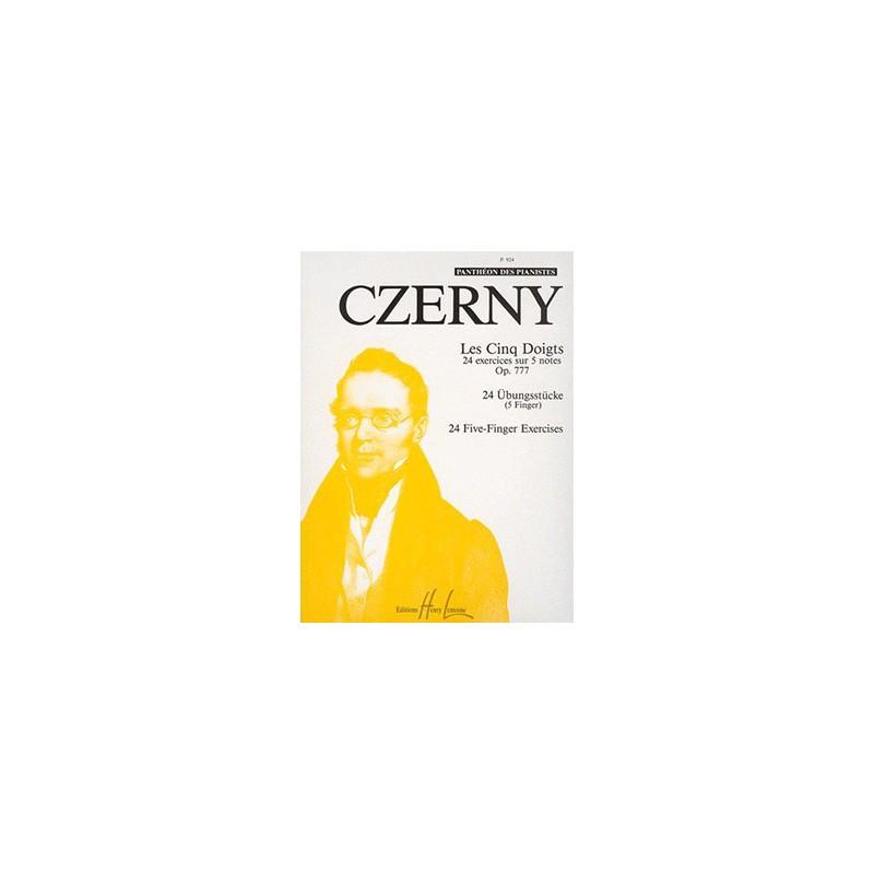 CARL CZERNY LES 5 DOIGTS OPUS 777 LEMOINE P924