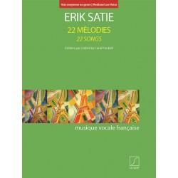 ERIK SATIE 22 MELODIES VOIX MOYENNE OU GRAVE SLB2044301